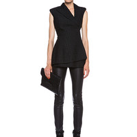 Eloise Sleeveless Blazer in Black