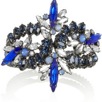 Elizabeth Cole Hematite-plated Swarovski crystal cuff – 65% at THE OUTNET.COM