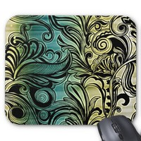 Swirl and Curl Mousepad