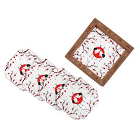 Belle13 Love Dance Of Japanese Cranes Coaster Set
