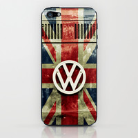 VW Retro Union Jack iPhone & iPod Skin by Alice Gosling
