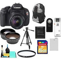 Canon - EOS Rebel T3i Camera+EF-S 18-55 IS II Lens+16GB+Tripod+Case+Batt+Remote+Filter+Telephoto/Lens Kit
