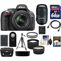 Nikon - Bundle D5200 Digital SLR Camera & 18-55mm G VR DX AF-S Zoom Lens (Black)