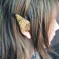 Elf's Ear Statement Ear Cuff (Single, No Piercing)