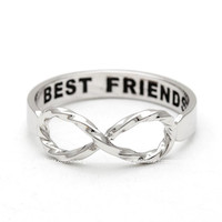 girlsluv.it - new twisted INFINITY best friends ring, 3 colors