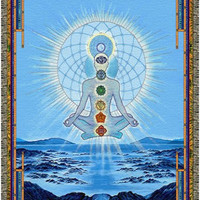 Blue - Cosmo Chakra - Woven Blanket