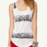Sequined Lace Tunic Tank | Sequin & Shine | rue21