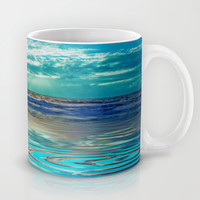FANTA-SEA IN BLUE Mug by catspaws