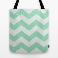 Wintermint Chevron Tote Bag by Ann B.