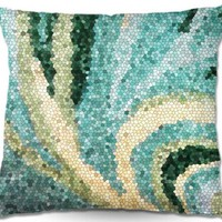 Sylvia Cook's 'Mosaic Swirl' | Decorative Throw Pillows