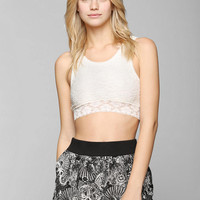 Pins And Needles Puckered Lace Bralette - Urban Outfitters