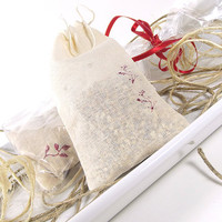 FREE SHIPPING - Raspberry Tomato Leaf scented Potpourri Sachet 3x5 Muslin Bag -- Home/Car Fragrance