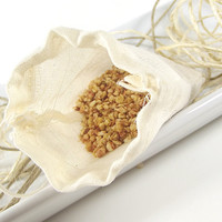 FREE SHIPPING - Vanilla Sandalwood scented Potpourri Sachet 3x5 Muslin Bag -- Home/Car Fragrance