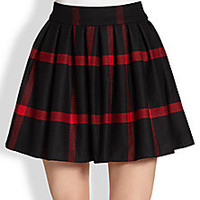 Alice + Olivia - Box-Pleated Wool Skirt - Saks Fifth Avenue Mobile