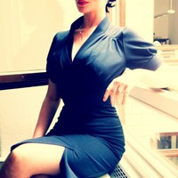 Miss Candyfloss - MISS CANDYFLOSS 50s Lily blue pencil dress