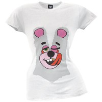 Twerk Bear Juniors Costume T-Shirt Inspired by Miley Cyrus, 2013 VMAs White
