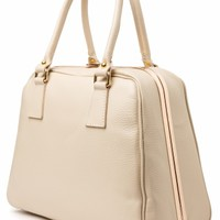 VaVa Vintage - 60s Chic Suitcase Handbag in Beige genuine leather