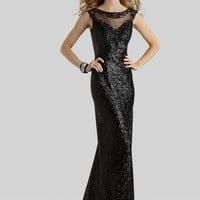 Clarisse 2310 Liquid Black Sequin Dress