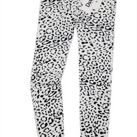 "DOLCE & GABBANA ""Snow Leopard"" skinny jeans slim pants animal Denim D&G (white)"