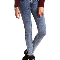 HIGH RISE ACID WASH SKINNY