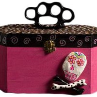 Pink Sprout 13 Pink Cigar Box Purse with Skull Accessories Purses at Broken Cherry
