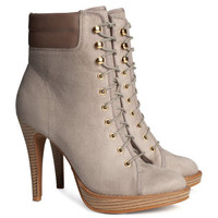 Tall Lace-up Boots - from H&M