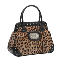 Rock Rebel Leopard Gold Handbag Accessories Purses at Broken Cherry