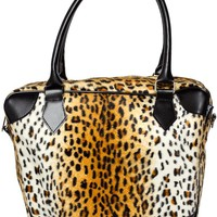 Sourpuss Cheetah Bomber Purse Accessories Purses at Broken Cherry