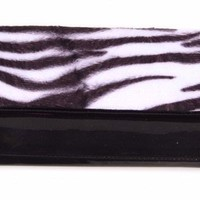 Rock Rebel Zebra and Black Glitter Wallet Accessories Wallets - Dames at Broken Cherry
