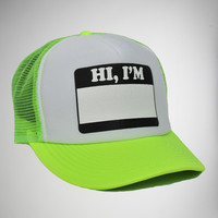 'Hello I'm' Trucker Hat