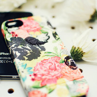 MICHELLA watercolor floral iPhone 5/5s or 4/4s case *FREE SHIPPING