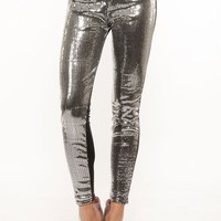 Sequin Front Stretch Pants @ Cicihot Pants Online Store: sexy pants,sexy club wear,women's leather pants, hot pants,tight pants,sweat pants,white pants,black pants,baggy pants