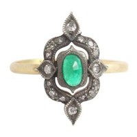 Catbird :: ila & i :: Esta Ring, Emerald & Diamonds