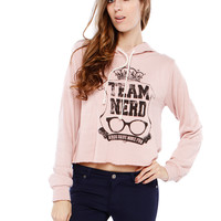 TEAM NERD GRAPHIC HOODED TOP