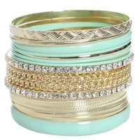 15 Chain Bangle Set - WetSeal