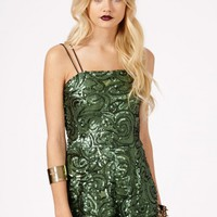 Missguided - Cyrilia Strappy Sequin Playsuit
