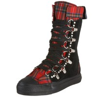Demonia Suede Sneaker Boots - blk/plaid :: VampireFreaks Store :: Gothic Clothing, Cyber-goth, punk, metal, alternative, rave, freak fashions