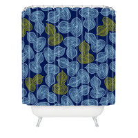 Heather Dutton Leaflet Marine Shower Curtain