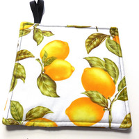 Fresh Lemons Hot Pads Pot Holders Trivets Set of Two