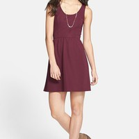 Socialite Scoop Back Skater Dress (Juniors) | Nordstrom