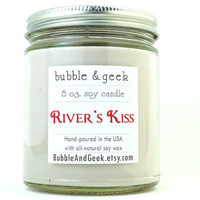 River's Kiss Scented Soy Candle - 8 oz. jar - Doctor Who