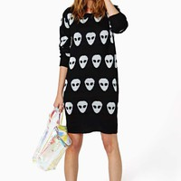 Evil Twin Invasion Knit Dress