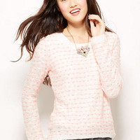 Nubby Stitch High-Low Pullover