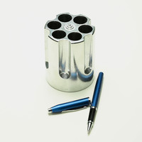 Gun Cylinder Pen Holder - Cool Material