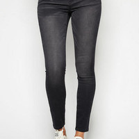 Liv High-Waist Black Blasted Jegging