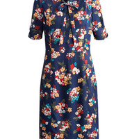 Navy Floral Merylin Womens Floral Dress | Joules UK