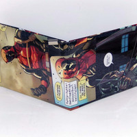 Black Friday, Shop Local Saturday, and Cyber Monday Sale// Comic Book Wallet// Deadpool vs Hawkeye (Bullseye)