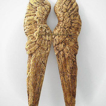SantosCageDoll.com — Gilded Paper Mache Angel Wings, 28""