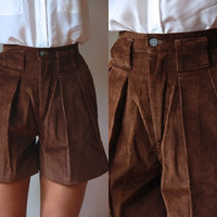 Vtg High Waist Corduroy Chocolate Brown Palmetto's Shorts