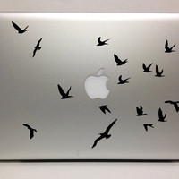 Macbook Decal flying birds decal Macbook Stickers laptop decal iPad decals for macbook 002